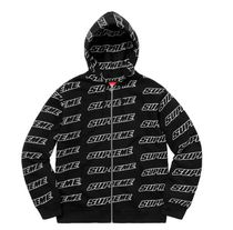 18SS☆Supreme Repeat Zip Up Hooded  パーカー フーディ