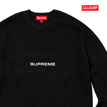 WEEK6★SUPREME Cheast Stripe Raglan Sweate-BLACK/L
