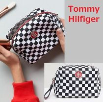 Tommy Hilfiger(トミーヒルフィガー) メイクポーチ 国内発税送込★Tommy Hilfiger★チェッカーボード柄メイクポーチ