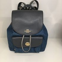 【COACH】新作☆内側が花柄 MINI BILLIE BACKPACK F24598☆Denim