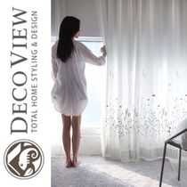 DECO VIEW★French Embroidery Washing Curtain