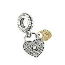 パンドラ チャーム 791807CZ LOVE LOCKS PENDANT CHARM GD/SI