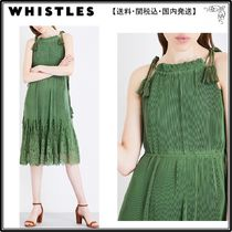 WHISTLES(ホイッスルズ) ワンピース 【海外限定】WHISTLESワンピース☆Lilian pleated lace and chif