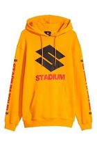国内配送 H&M PRINTED HOODED SHIRT H&M x STADIUM MERCH JUSTIN