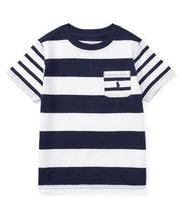 新作♪国内発送 Striped Cotton Jersey T-Shirt boys 2~7