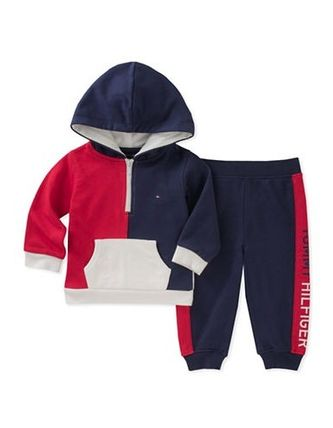 *Tommy Hilfiger*カラーブロック ロゴ スウェットセットアップ