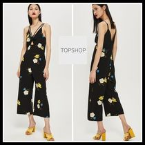 TOPSHOP★Yellow Floral Print Jumpsuit 花柄 サロペット
