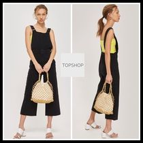 TOPSHOP★MOTO Cropped Wide Dungarees サロペット ダンガリー
