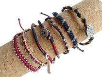 wakami・WA0389-101・Earth Bracelet・7本セット・Red and Blue
