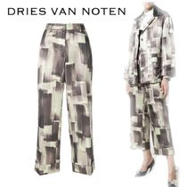 【18SS】大注目!!★Dries Van Noten★cropped printed trousers