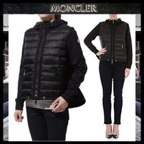 【MONCLER】17AW 異素材MIX ジップアップブルゾン BLACK/EMS直送