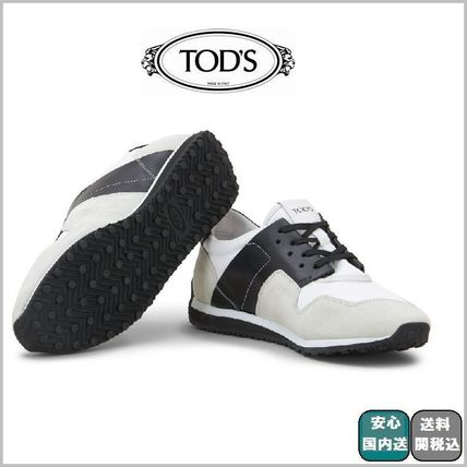 18SS☆関税込【Tods】SNEAKERS IN SUEDE AND HIGH TECH FABRIC