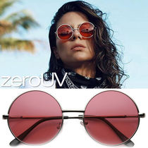 全6色*zeroUV*RETRO HIPPIE MID SIZED ROUND COLOR LENS SUNGLAS