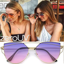全5色*zeroUV*RETRO MODERN CROSS BAR GRADIENT LENS SUNGLASSES