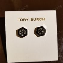セール!Tory Burch★ HEX-LOGO STUD EARRING : ピアス