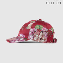 ◇GUCCI◇Blooms シルク ベースボールキャップ レッド