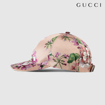 ◇GUCCI◇Blooms シルク ベースボールキャップ ピンク