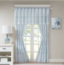 NEW☆Madison ☆ Window Curtain Panel Pair in Aqua