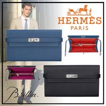 HERMESエルメス Portefeuille Kelly Classique Verso 長財布 2色