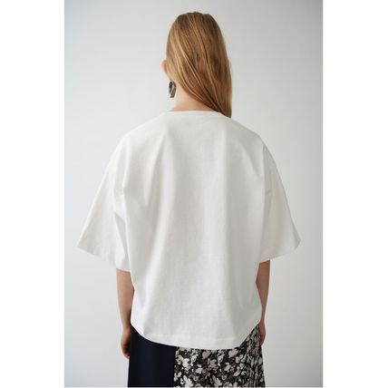 Acne Tシャツ・カットソー [Acne] Cylea white T-shirt フロントロゴ入ボクシーTシャツ(2)