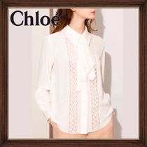 ★★CHLOE《クロエ》EDEN WHITE SILK LACE BLOUSE  送料込み★★