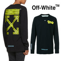 OFF-WHITEが魅せる☆FIRETAPE ARROW ロンTee☆TEMPERATURE