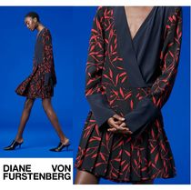 セール!DVF★Long-Sleeve Cross Over Dress?お早めに