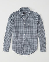 【国内即発】*Abercrombie & Fitch* ICON POPLIN SHIRT