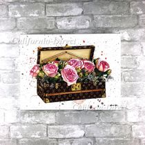 Oliver Gal 大きい 81x61cm Trunk of Roses キャンバスアート