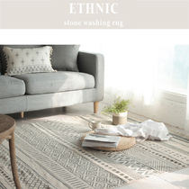 DECO VIEW★ETHNIC Stone Washing Rug コットンラグ(200 *150)