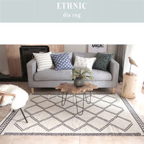 DECO VIEW★ETHNIC Dia Rug コットン両面ラグ(200 *150 )