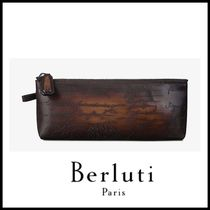 追跡ありで安心☆Berluti Okoume Leather Pencil Case