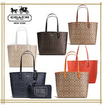 COACH ★ REVERSIBLE CITY TOTE IN SIGNATURE F36658 国内発送!