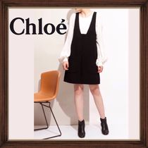 ★★CHLOE《クロエ》 BLACK SHORT PINAFORE DRESS  送料込み★★