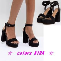 ASOS DESIGN Hostess Platform Heeled Sandals♪