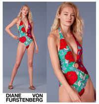 DVF★O-Ring Cheeky Plunge One-Piece フローラルワンピース水着