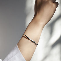 BAR JEWELLERY(バージュエリー) ブレスレット 【 BAR JEWELLERY 】WIDE RIPPLE BRACELET