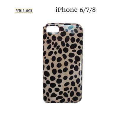 iPhone・スマホケース 即納FIFTH & NINTH) IPhone6/7/8携帯ケースSpotted(LEOPARD)
