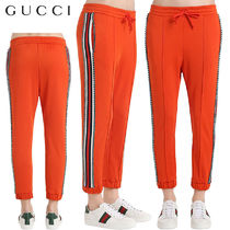 【正規品保証】GUCCI★18春夏★CRYSTAL TECHNO TRACK PANTS