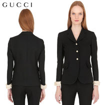 【正規品保証】GUCCI★18春夏★WOOL & SILK CREPE JACKET_BLACK