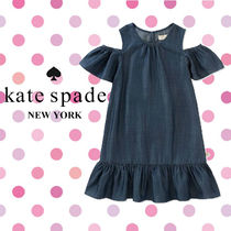 Kate Spade ケイトスペード Girl's Chambray Cut-Out ワンピース