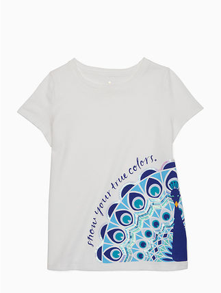 kate spade new york キッズ用トップス 【1-2日到着】kate spade●toddler's true colors peacock tee●