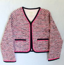 kate spade new york(ケイトスペード) キッズアウター 【1-2日到着】kate spade●toddler's knit tweed jacket●ピンク