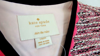 kate spade new york キッズアウター 【1-2日到着】kate spade●toddler's knit tweed jacket●ピンク(4)