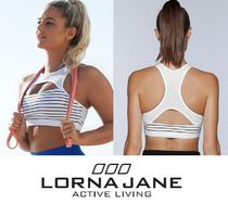 *Lorna Jane*オフホワイトストライプ!Pushing Limits Sports Bra