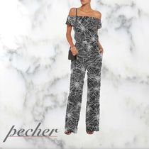 【DIANE von FURST】Off-the-shoulder printed crepe jumpsuit