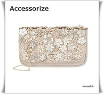Accessorize 3D 花 フラワー 装飾 チェーン クロスボディバッグ