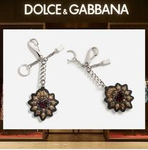 18SS☆ Dolce&Gabbana Dauphineカーフスキン ハート キーリング