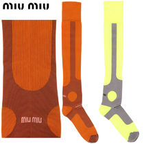 【正規品保証】MIUMIU★18春夏★INTARSIA STRETCH NYLON SOCKS