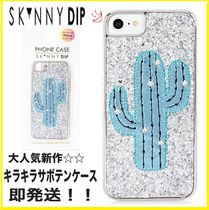 【2017SS新作】即発送☆SKINNY DIP☆キラキラ サボテン CASE